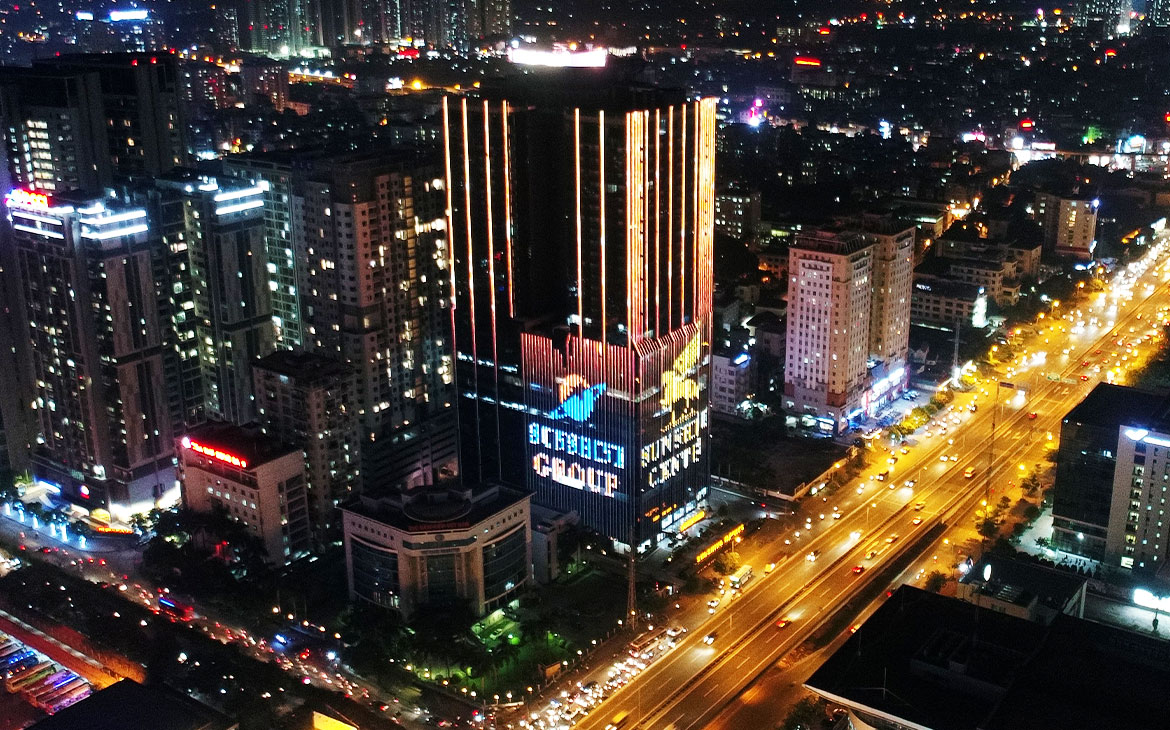 Sunshine Homes changes Hanoi City's appearance with the outstanding new looks thanks to the Lighting Technology
